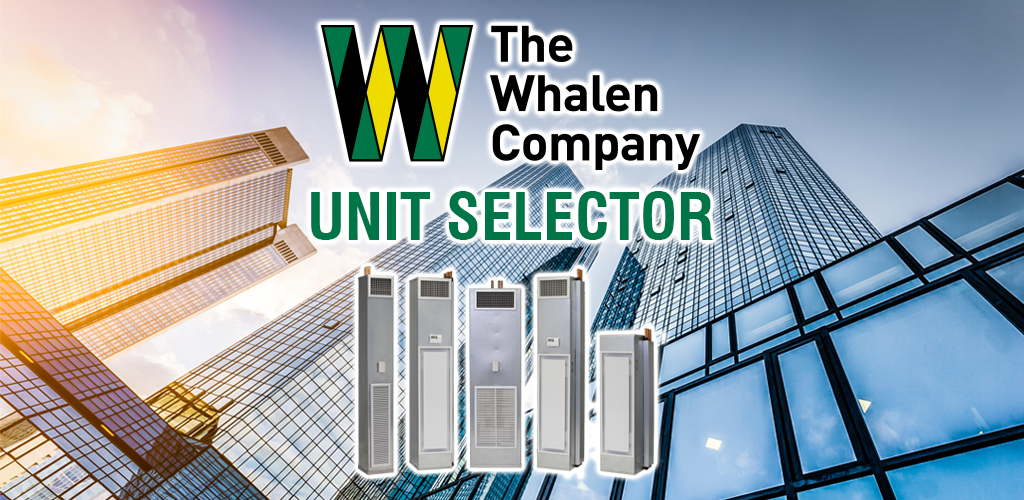 whalen fan coil heat pump unit selector feature graphic