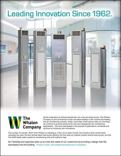 whalen fan coil heat pump innovation ad image